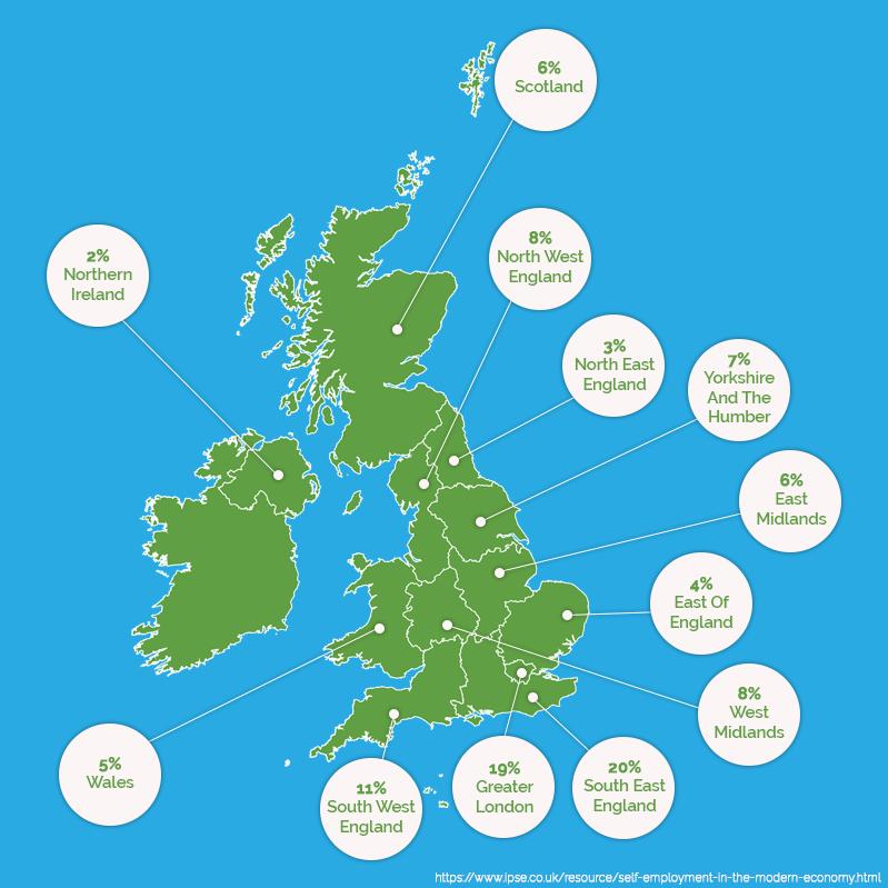 Self Employed Loan Map